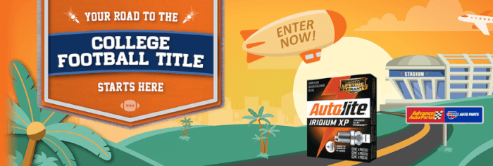 Autolite Advance Auto Parts DIY Sweepstakes