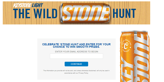 MillerCoors Keystone Light The Hunt Sweepstakes