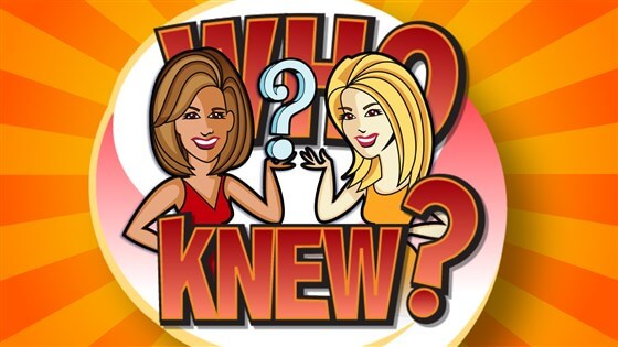 Today KLG and Hoda Who Knew Prize Sweepstakes