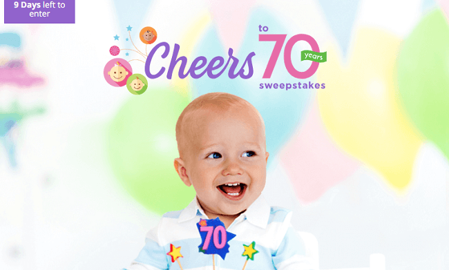Cheers to 70 Years Sweepstakes