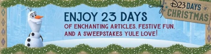 D23 christmas giveaway