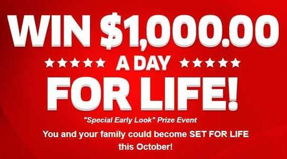 pch win 1000 a day for life