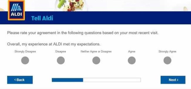 aldi feedback survey rate experience