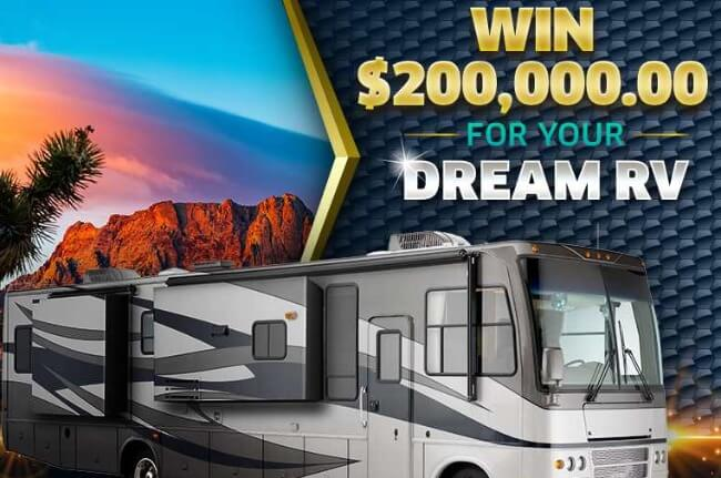 win $200000 for dream rv from Pch